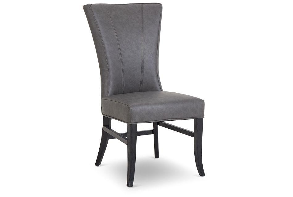 Lori Dark Gray Micro Side Chair,  (1)