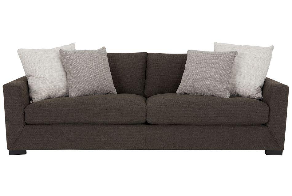 Nicolette Dark Gray  Fabric Sofa