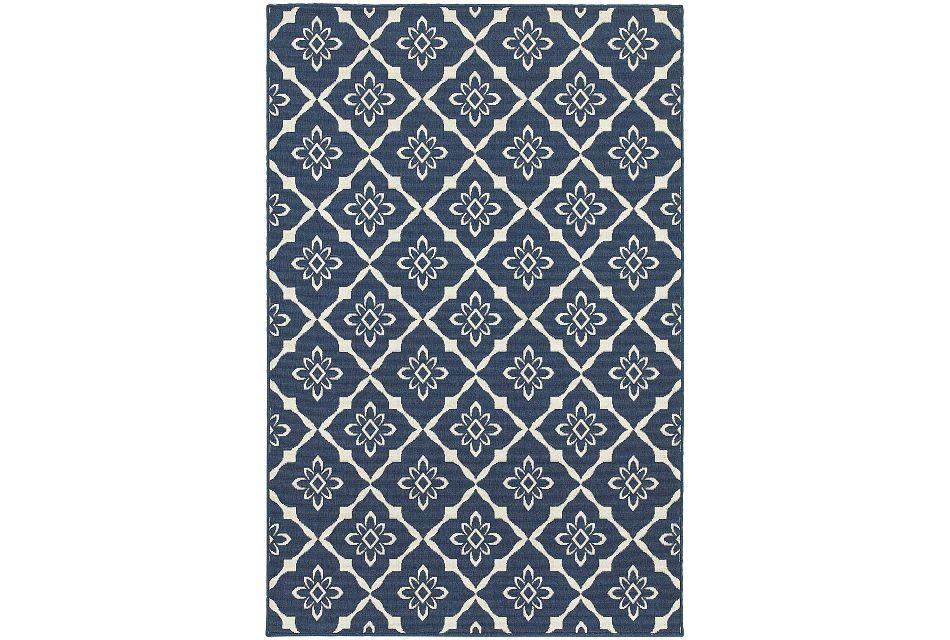 Meredith Dark Blue Indoor/outdoor 8x10 Area Rug