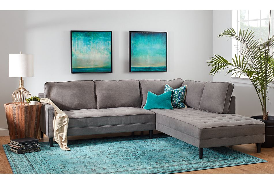 Eli Gray Micro Right Chaise Sectional