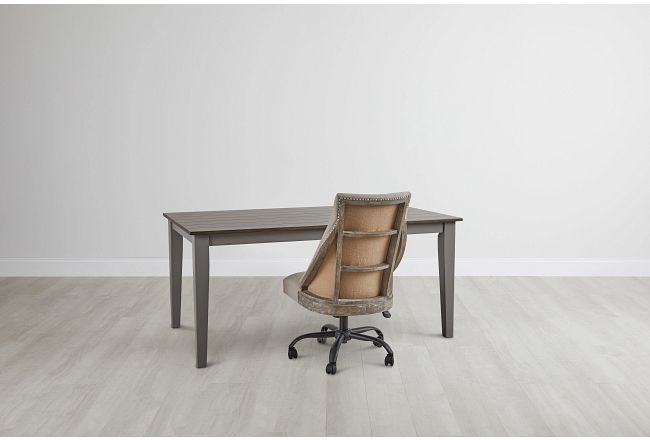 Sumter Gray Desk And Chair