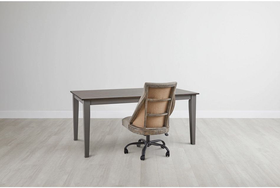 Sumter Gray Desk And Chair,  (0)