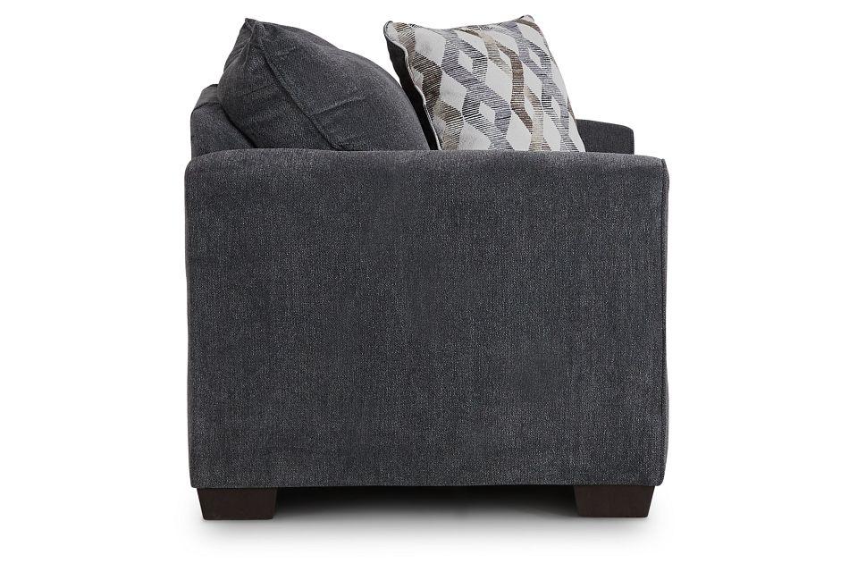 Myra Dark Gray Fabric Chair,  (2)