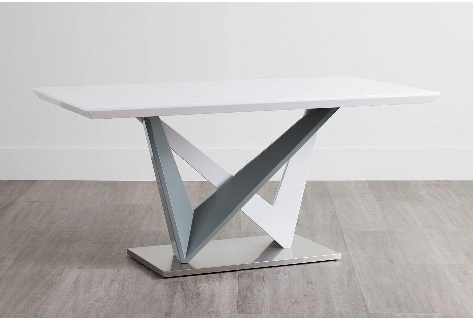 Lennox White Rectangular Table