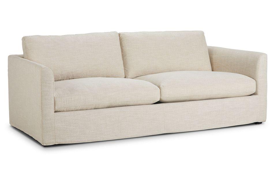 "Willow 89"" Light Beige Fabric Sofa"