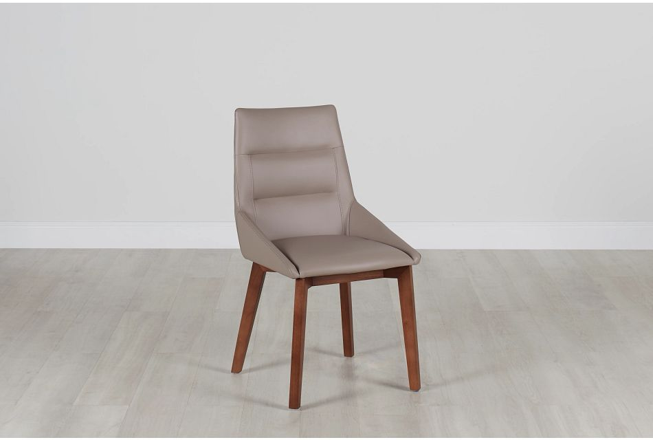Fresno Taupe Side Chair