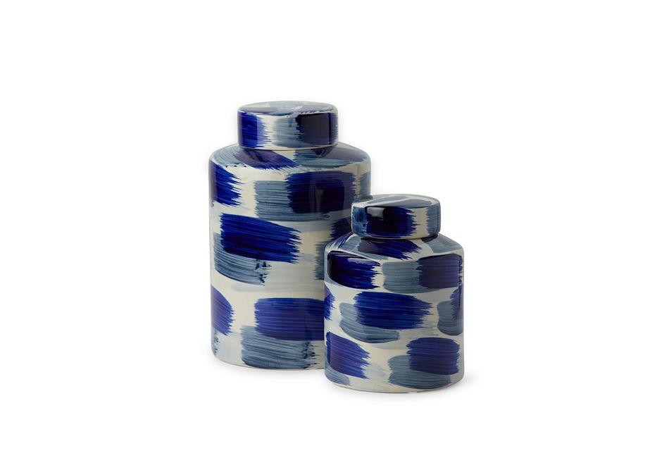 Alula Small Dk Blue Jar
