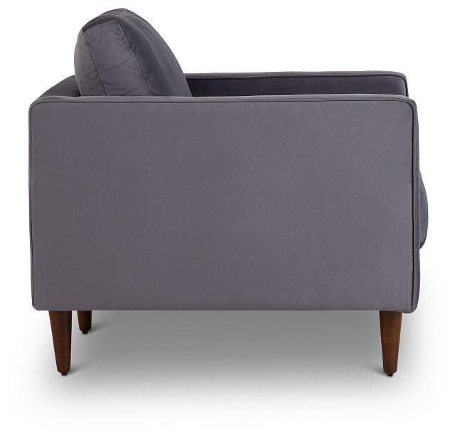Luna Gray Velvet Chair (2)