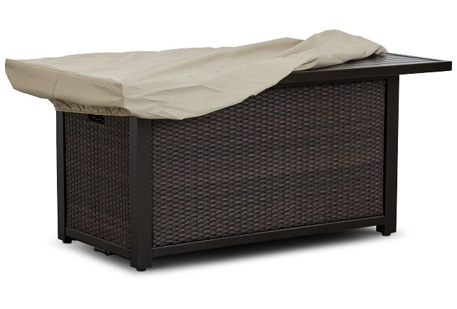 Khaki Large Rectangular Fire Pit Outdoor Cover