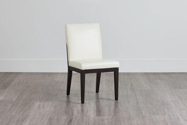 Lago White Bonded Ltr Side Chair (1)