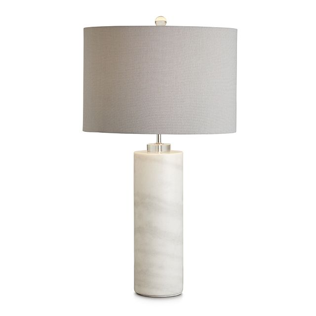 Pippi Gray Marble Table Lamp (2)