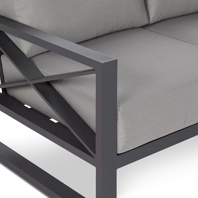 Linear Dark Gray Aluminum Sofa