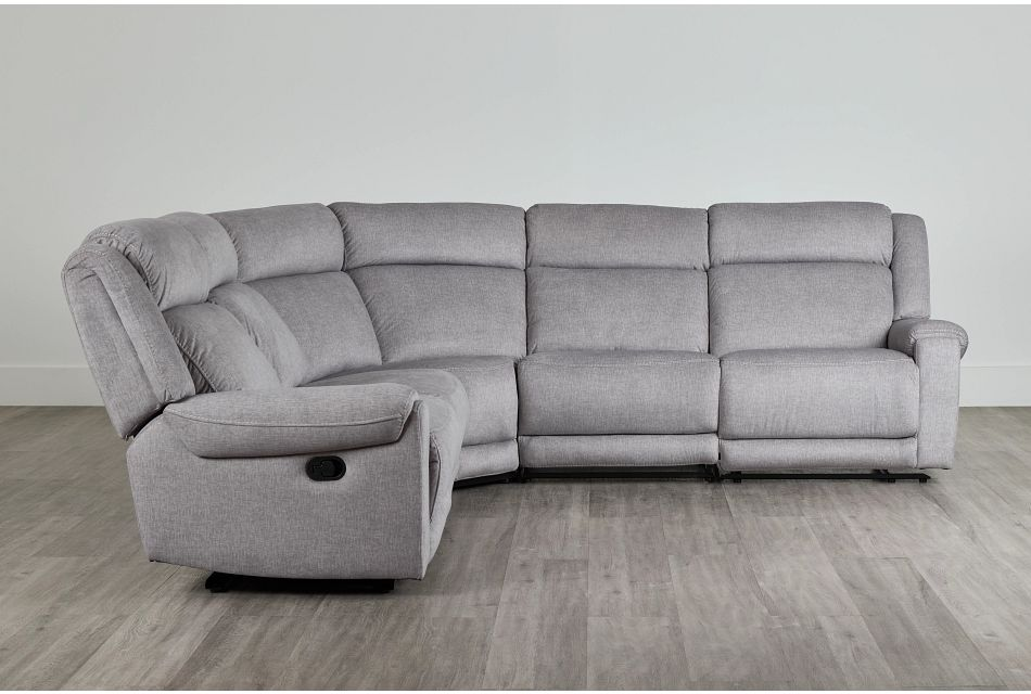 Beckett Gray Micro Small Two-Arm Manually Reclining Sectional,  (0)