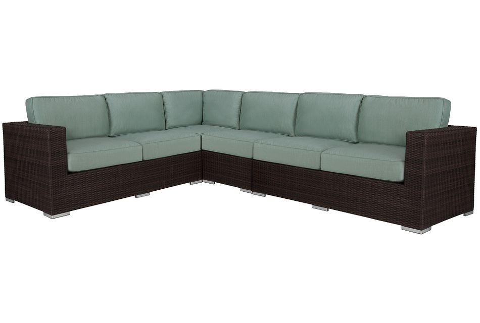 Fina TEAL  Large Two-Arm Sectional