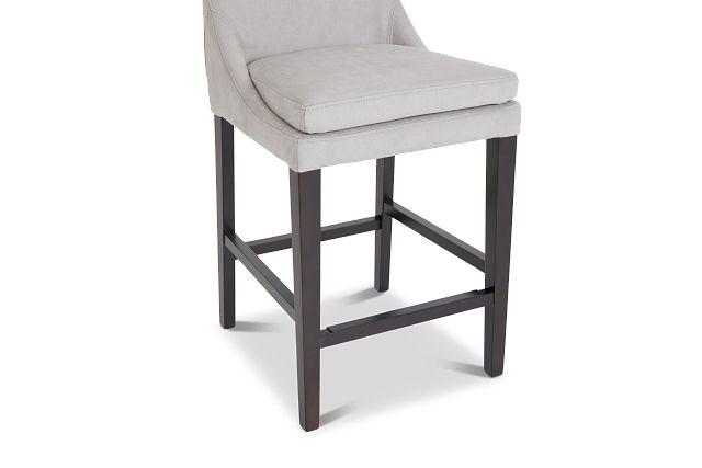 """Tito Light Gray 24"""" Upholstered Barstool"""