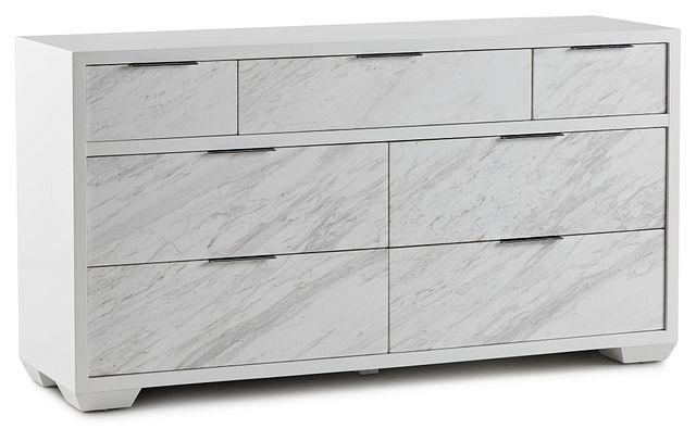 Ocean Drive White Marble Dresser (2)