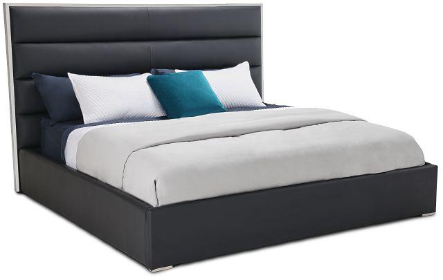 Cortina Black Uph Platform Bed (3)