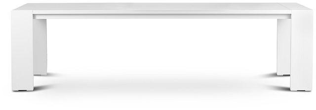 """Linear White 110"""" Rectangular Table (1)"""