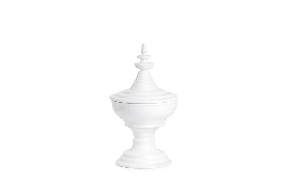 Cora White Large Tabletop Accessory