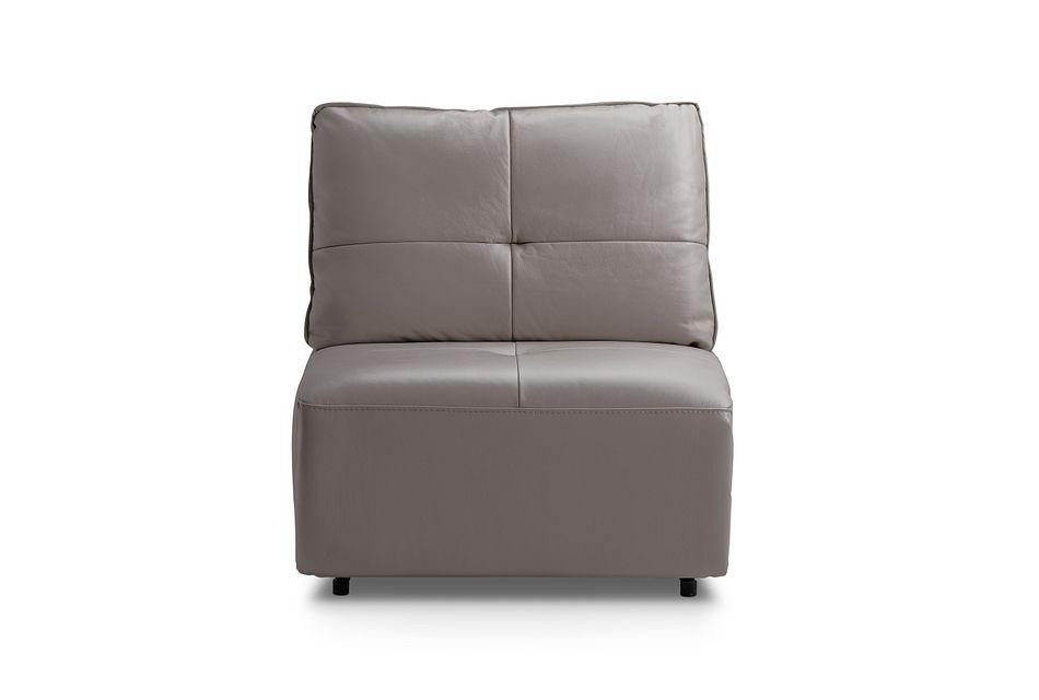 Trice Light Gray  Fabric Armless Chair