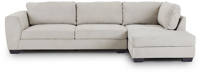Perry Light Gray Micro Right Chaise Sectional (3)