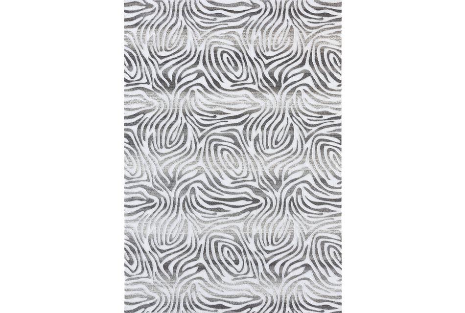 Illusion Gray 5x8 Area Rug
