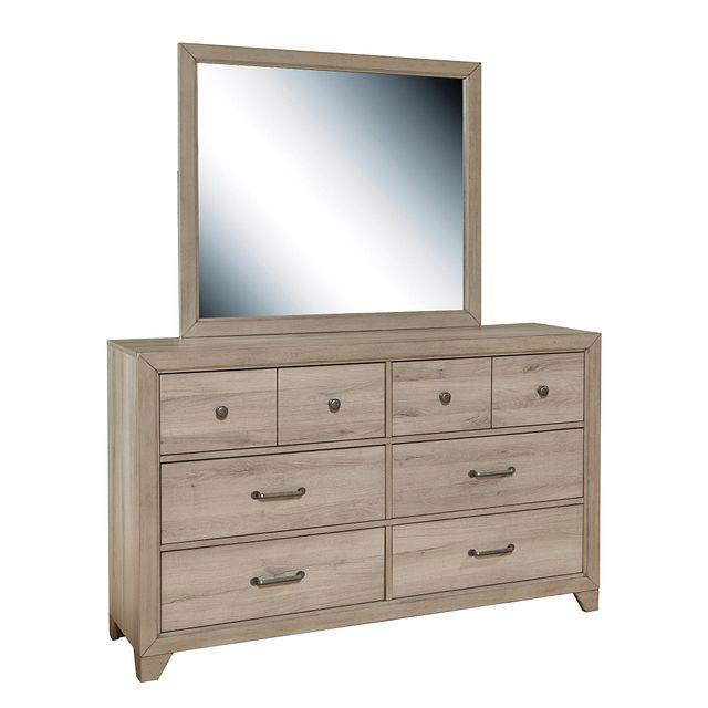 Rivercreek Gray Wood Dresser & Mirror (3)
