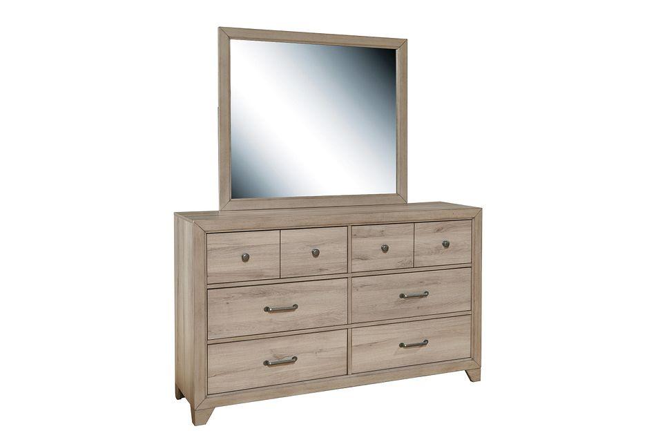 Rivercreek Gray Wood Dresser & Mirror
