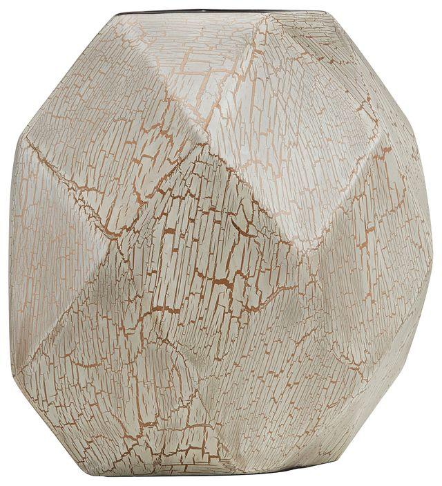 Bella White Round Vase (1)