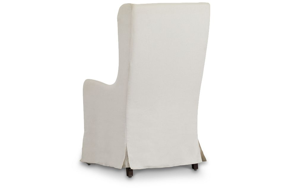 Savannah Beige Uph Skirted Arm Chair