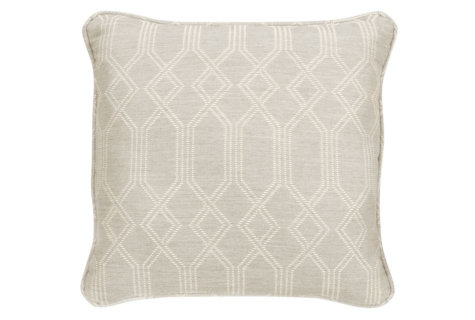 """Connect Light Gray  18"""" Indoor/Outdoor Accent Pillow"""