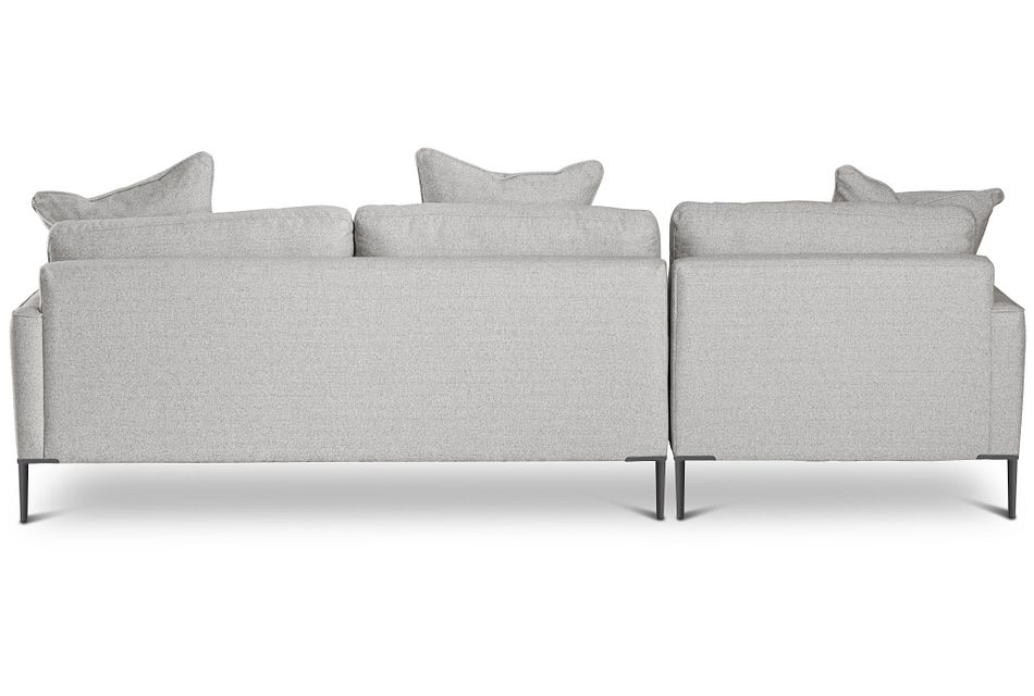 Morgan Light Gray Fabric Small Left Chaise Sectional W/ Metal Legs