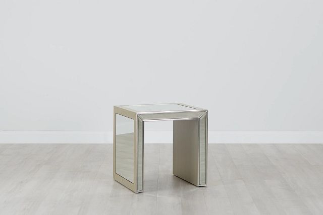 Monroe Mirrored End Table