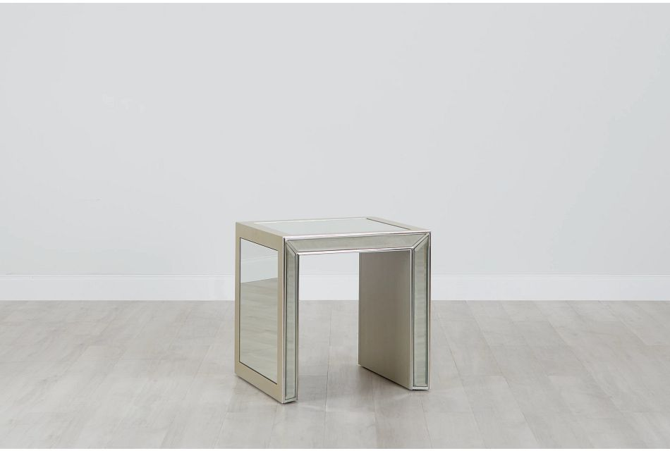 Monroe Mirrored End Table