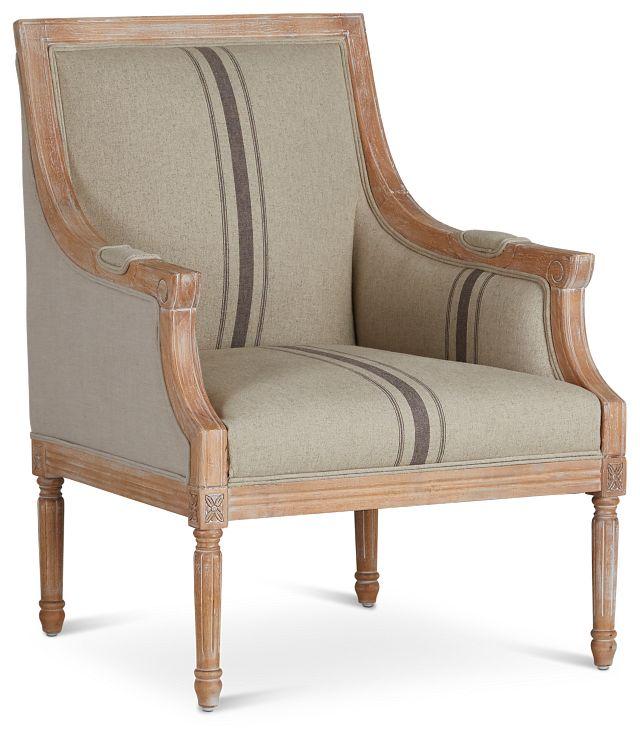 Mckenna Beige Fabric Accent Chair (1)