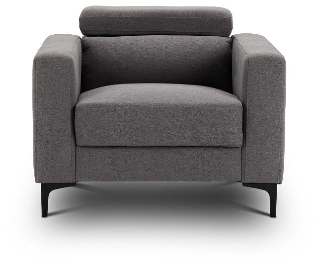 Trenton Dark Gray Fabric Chair