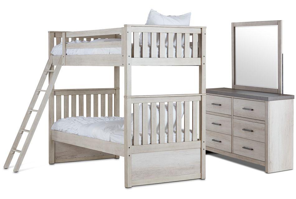 Casper Light Tone Bunk Bed Bedroom