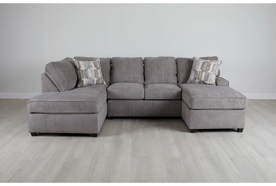 Millie Gray Fabric Sectional,  (0)