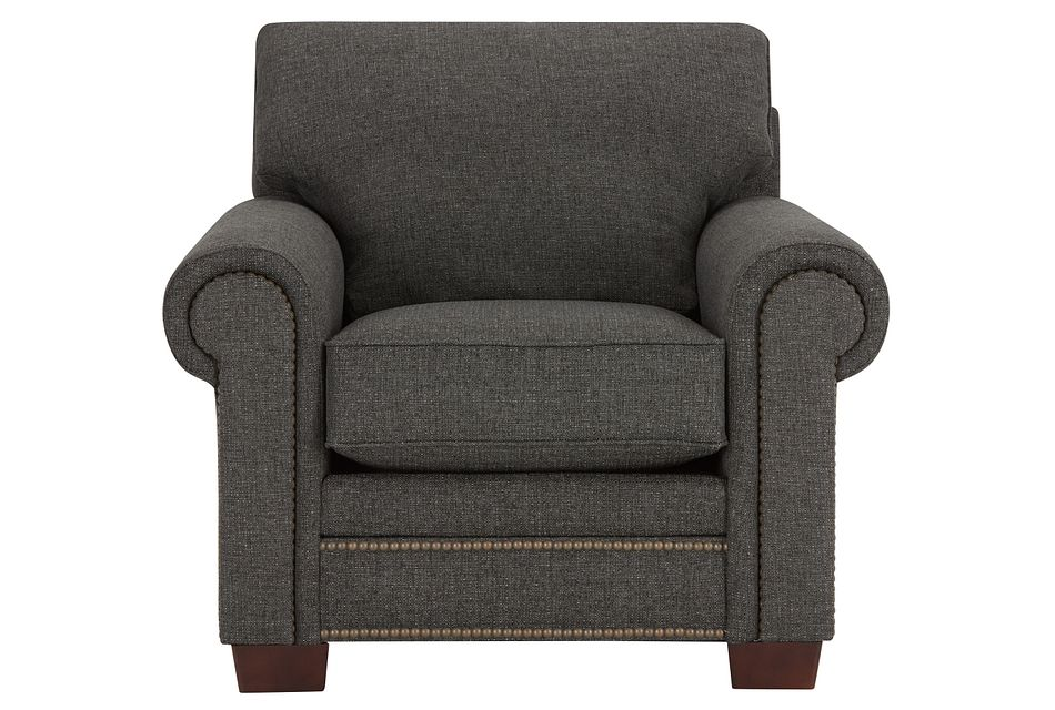 Foster Dark Brown Fabric Chair