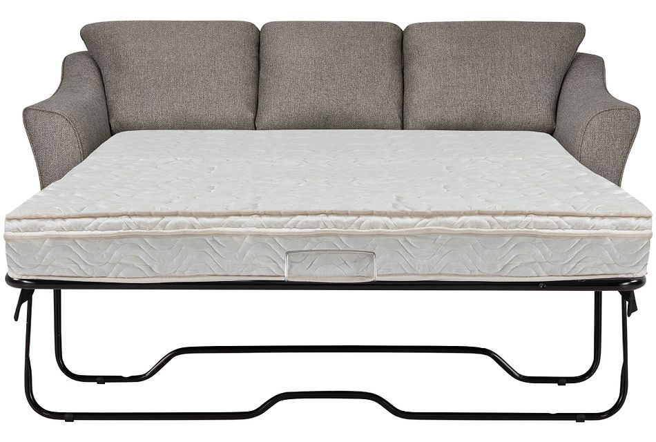 Avery Dark Gray Fabric Innerspring Sleeper
