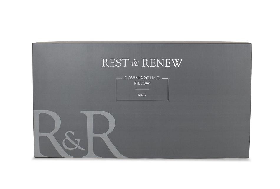 Rest & Renew Down Around Stomach Sleeper Pillow