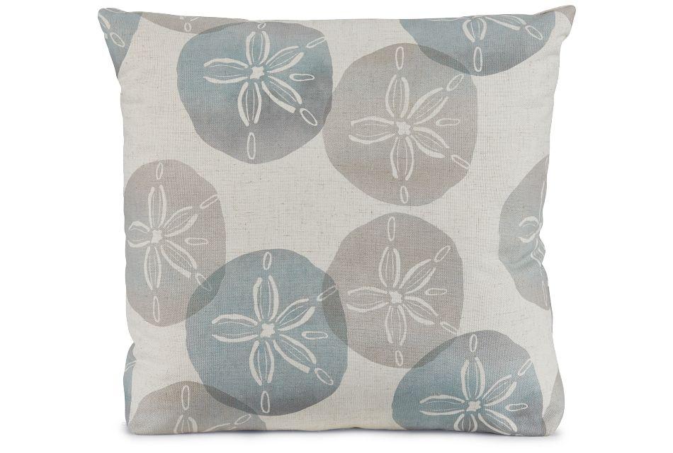 "Sand Dollar Green Fabric 20"" Accent Pillow,  (1)"