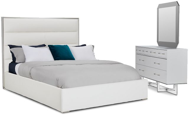 Cortina White Uph Platform Bedroom (0)