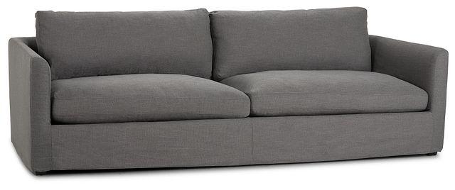 "Willow 102"" Gray Fabric Sofa (2)"
