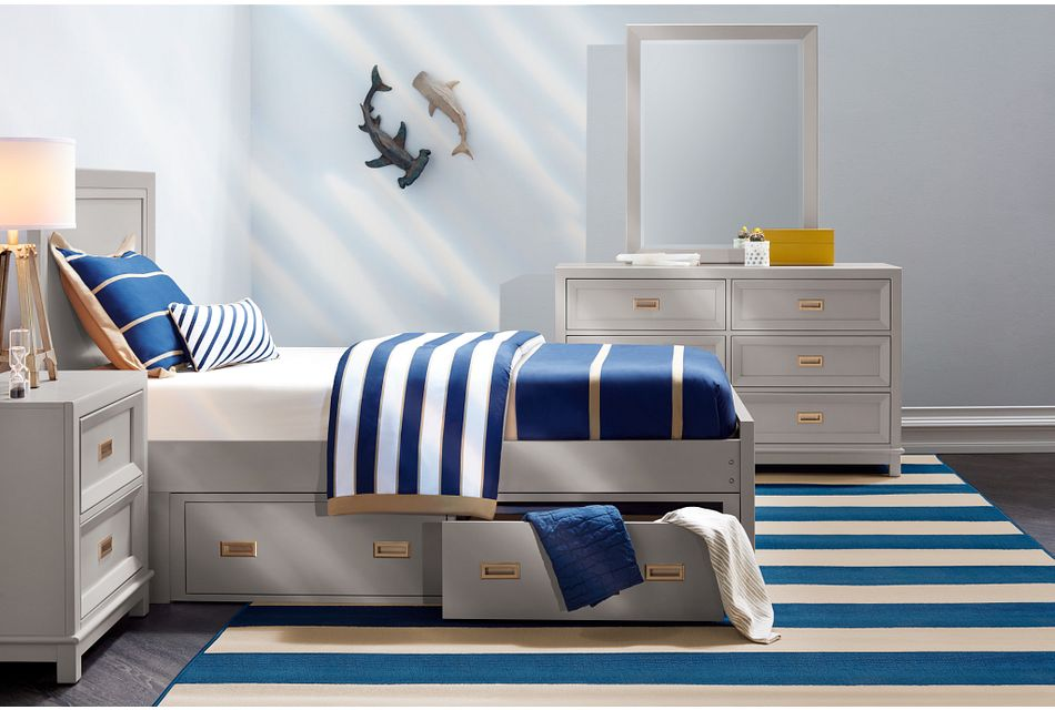 Ryder Gray  Panel Storage Bed, Twin (3)