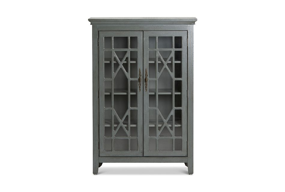 Alexis Gray Tall Two-door Cabinet
