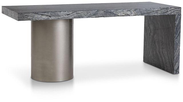 Linea Black Marble Desk