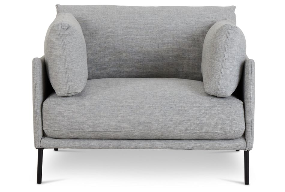 Oliver Light Gray Fabric Chair,  (3)