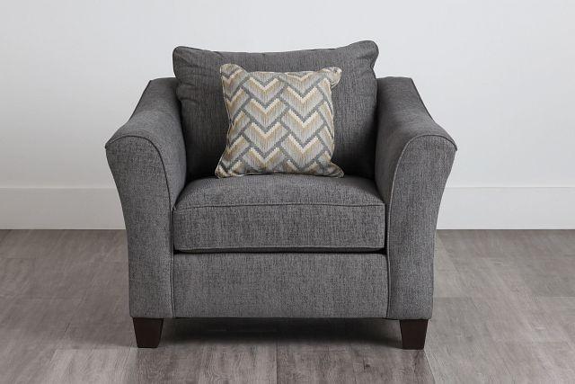 Maggie Dark Gray Fabric Chair (0)