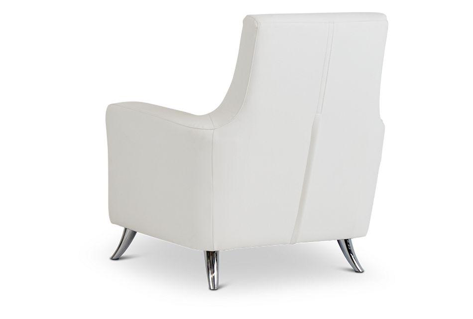 Marquez White Micro Accent Chair